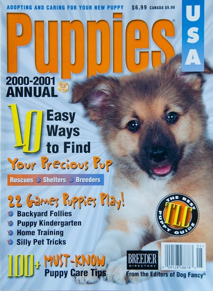 Cover of Puppies USA magazine