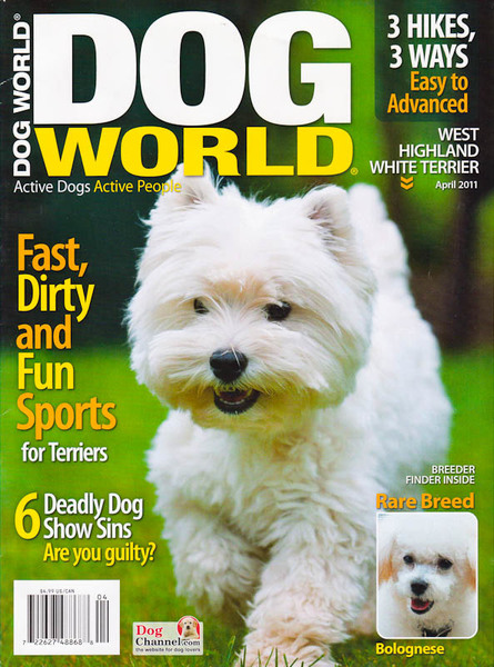 Dog World Magazine - April 2011 - Cover photo