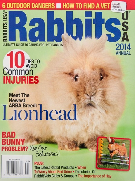 """Rabbits USA 2014"" Magazine, Cover Photo"